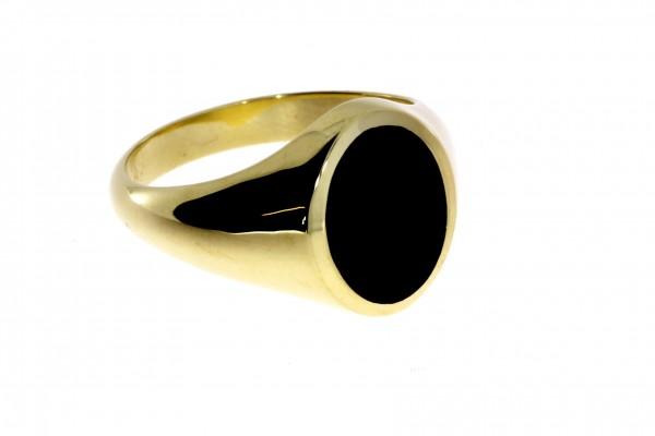 Dettinger Siegelring Gelbgold, m. Onyx