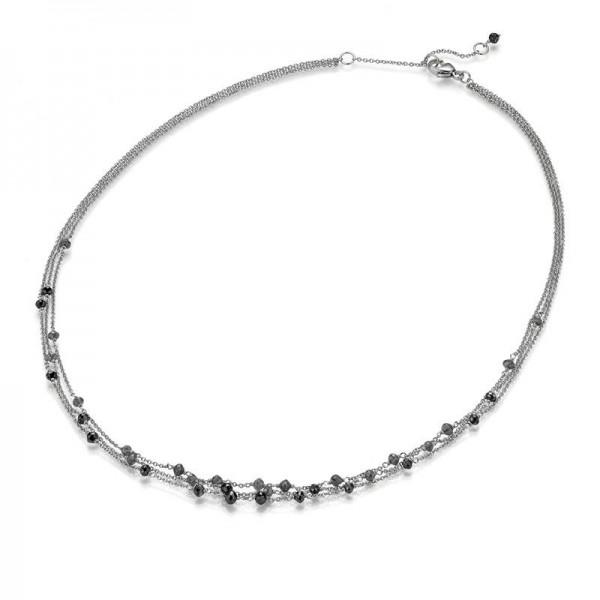 Gellner Castaway Collier Weißgold, m. Diamanten-Beads