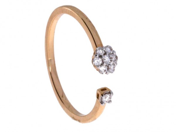 Crivelli Ring Rosegold, m. Brillanten 0,15ct