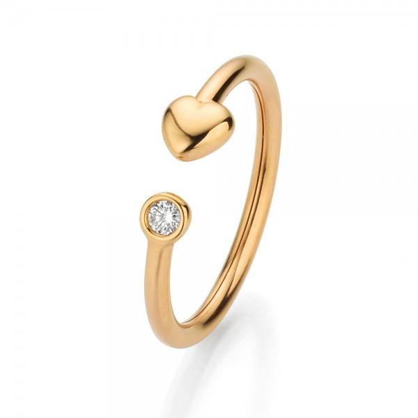 Crivelli Ring Rosegold, m. Brillant 0,05ct f/si