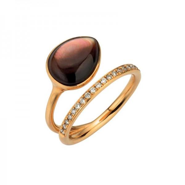 Gellner Melange Ring Rosegold, m. Brillanten 0,21ct, Perlmutt