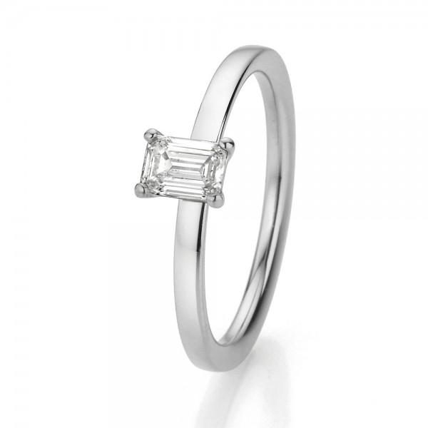 Dettinger Ring Weißgold, m. Diamant 0,40ct
