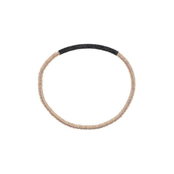 Pesavento Polvere Armband Silber rosé, m. Polvere schwarz