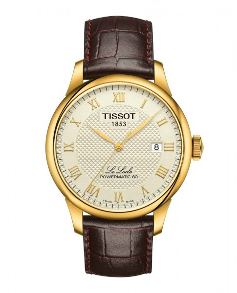 Tissot Le Locle gelb/braun Powermatic 80