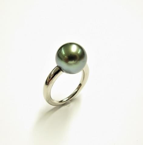 Gellner Modern Classics Ring Platin, m. Maruteaperle