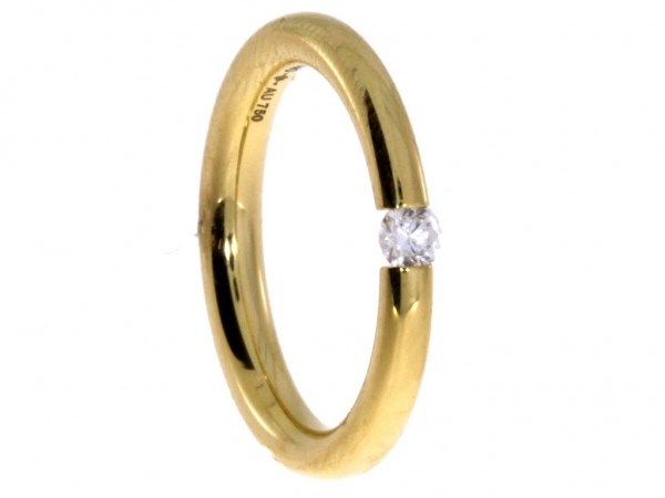 Niessing Antares Spannring Classic Yellow, Brill. 0,12ct