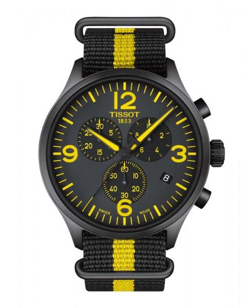 Tissot Chrono XL schwarz/gelb Nylonband