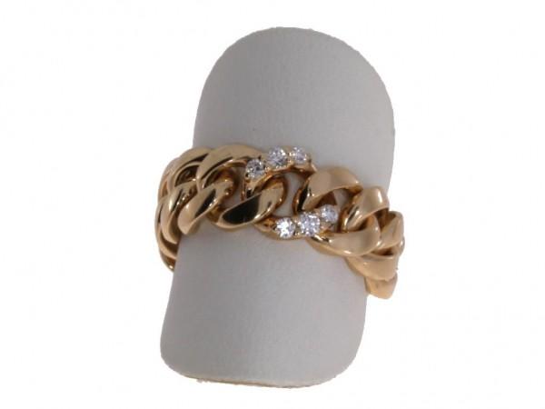 Crivelli Ring Rosegold, m. Brillanten 0,18ct