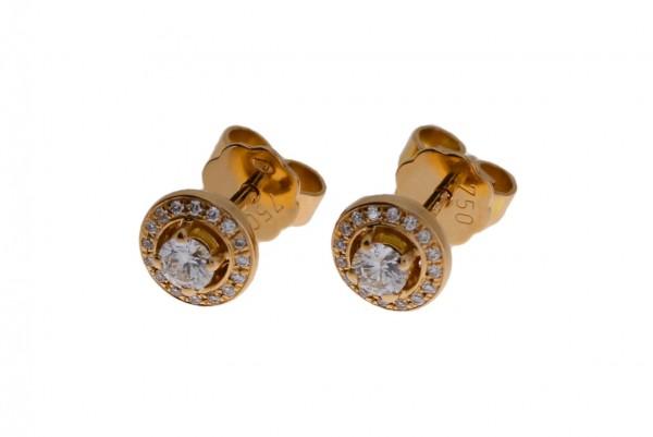 Meiller Diamonds Ohrstecker Rosegold, m. Brillanten 0,30ct