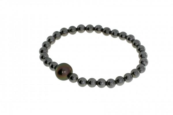 Pearl Style Flex Armband Tahiti-Zuchtperle Silber