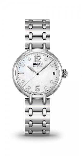 Union Glashütte Sirona Datum Perlmutt Diamaten