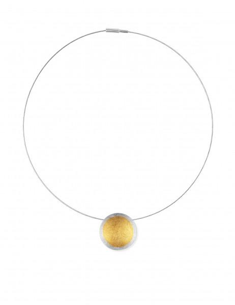 Zaremski Halsreif m. Anhänger Silber, vergoldet