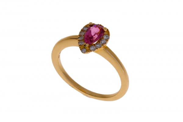 Dettinger Ring Rosegold, m. Diamanten