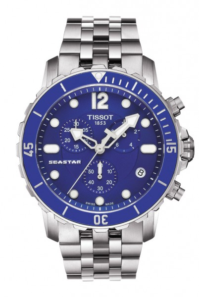 Tissot Seastar 1000 Quarz Chrono blau