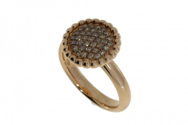 Crivelli Ring Rosegold, m. Brillanten 0,36ct
