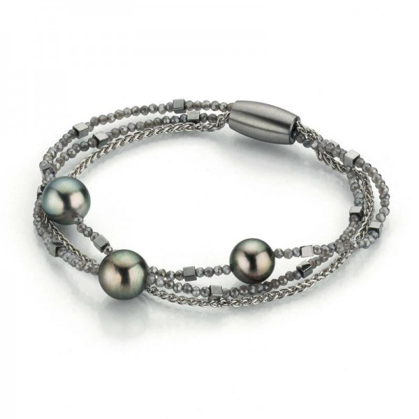Gellner Urban Big Bang Armband Silber, m. Tahitiperlen