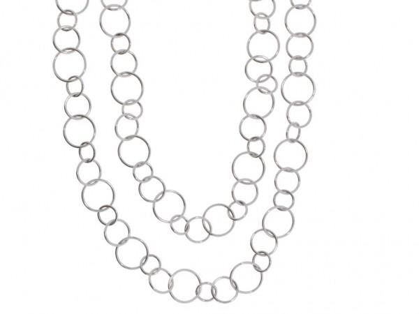 Crivelli Kette Weißgold, m. Brillanten 0,02ct