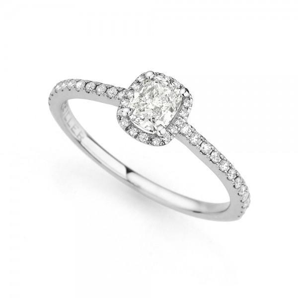 Meiller Diamonds Solitärring Weißgold, m. Diamanten 0,75ct