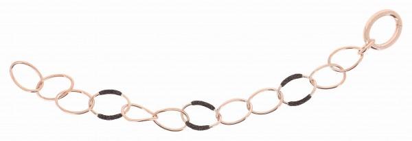 Pesavento Polvere di Sogni Armband Silber rosé, m. Polvere marrone