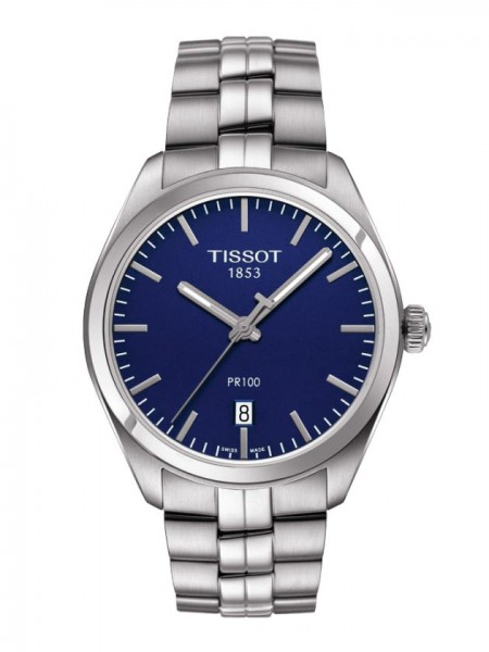 Tissot PR 100 Quarz Stahl/blau