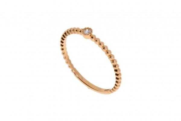 Crivelli Ring Rosegold, m. Brillant 0,03ct