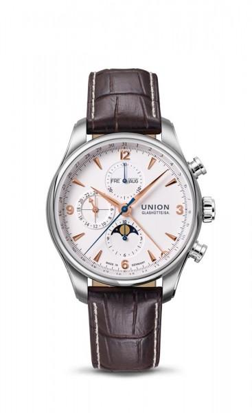 Union Glashütte Belisar Chronograph Mondphase Weiß/Rosé