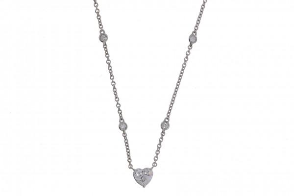 Crivelli Collier Weißgold, m. Herz Diamant 0,70ct