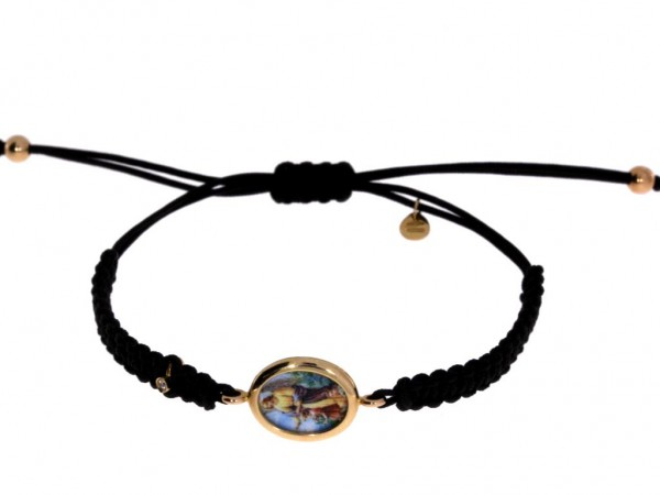 Crivelli Schutzengel Armband Rosegold, m. Brillant 0,01ct f/si