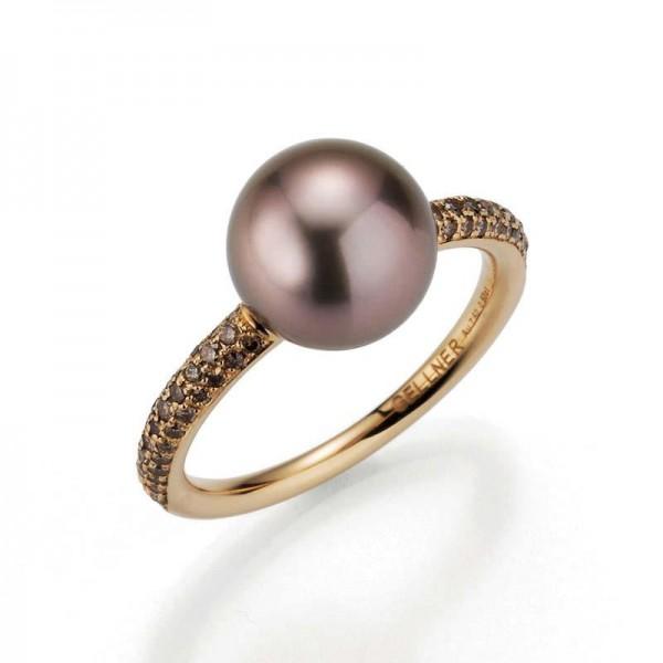 Gellner Modern Classics Ring Rosegold, m. Tahitiperle