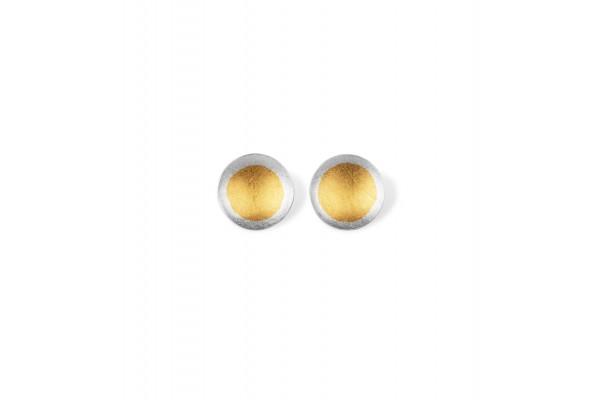 Zaremski Ohrstecker Silber, vergoldet