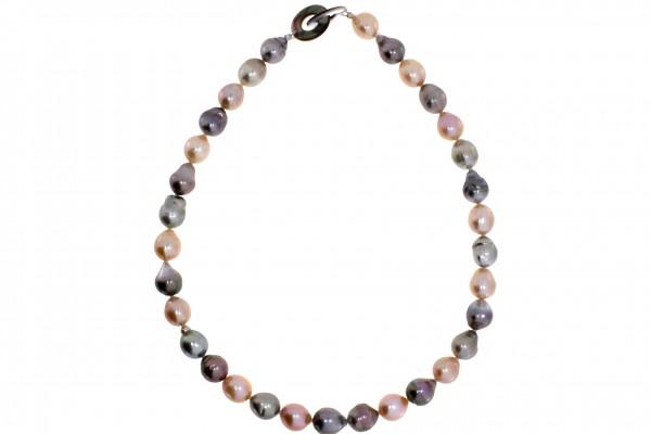 Gellner Perlencollier, m. Tahiti- und Mingperlen